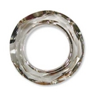 Swarovski Crystal Beads 20mm cosmic ring (4139) crystal silver shade transparent with silvery 1/2 coat