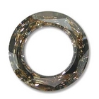 Swarovski Crystal Beads 20mm cosmic ring (4139) golden shadow CAL silver 1/2 coat