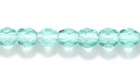 Czech Pressed Glass 4mm faceted round teal transparent