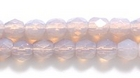 Czech Pressed Glass 4mm faceted round opal lilac opalescent