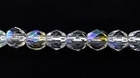 Czech Pressed Glass 4mm faceted round crystal ab transparent iridescent