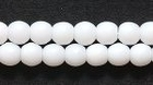 Czech Pressed Glass 4mm round white opaque