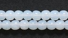 Czech Pressed Glass 4mm round white opal opalescent