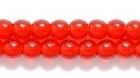 Czech Pressed Glass 4mm round ruby red transparent