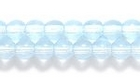 Czech Pressed Glass 4mm round light aqua blue transparent
