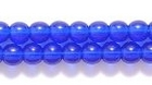 Czech Pressed Glass 4mm round cobalt blue transparent