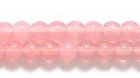Czech Pressed Glass 4mm round pink opalescent