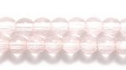 Czech Pressed Glass 4mm round peachy pink transparent