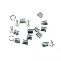 sterling silver 1.1x1mm crimp tube crimp bead silver