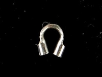 sterling silver .045 hole, thick for medium .019 cable cable guard silver