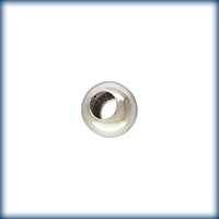 Metal Beads 2.5mm smooth seamless round sterling silver