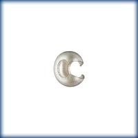 sterling silver 3mm crimp cover crimp cover silver matte