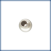 Metal Beads 3mm smooth seamed round sterling silver