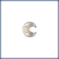 sterling silver 4mm crimp cover crimp cover silver