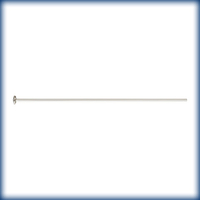 sterling silver 1.5 inch medium, 22g headpin silver