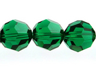 Swarovski Crystal Beads 10mm round (5000) emerald (dark green) transparent