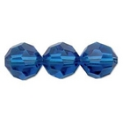 Swarovski Crystal Beads 4mm round (5000) capri blue transparent