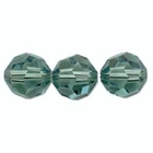 Swarovski Crystal Beads 4mm round (5000) erinite (blueish green) transparent