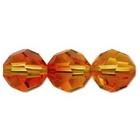Swarovski Crystal Beads 4mm round (5000) fire opal (red & orange) transparent