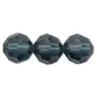 Swarovski Crystal Beads 4mm round (5000) montana (greyish blue) transparent