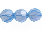 Swarovski Crystal Beads 6mm round (5000) air blue opal opalescent