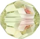 Swarovski Crystal Beads 6mm round (5000) crystal luminous green transparent with finish