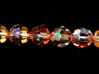 Swarovski Crystal Beads 6mm round (5000) crystal copper transparent iridescent