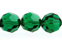 Image Swarovski Crystal Beads 6mm round (5000) emerald (dark green) transparent