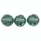 Swarovski Crystal Beads 6mm round (5000) erinite (blueish green) transparent