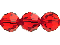 Image Swarovski Crystal Beads 6mm round (5000) light siam (light red) transparent
