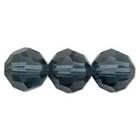 Swarovski Crystal Beads 6mm round (5000) montana (greyish blue) transparent