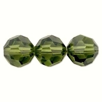 Swarovski Crystal Beads 6mm round (5000) olivine (olive green) transparent
