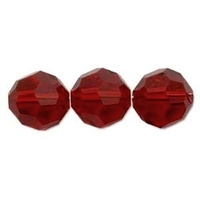 Swarovski Crystal Beads 6mm round (5000) siam (deep red) transparent