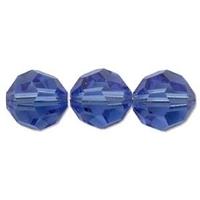 Image Swarovski Crystal Beads 6mm round (5000) sapphire (blue) transparent
