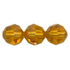Swarovski Crystal Beads 6mm round (5000) topaz (gold) transparent