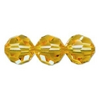 Swarovski Crystal Beads 6mm round (5000) light topaz (light gold) transparent
