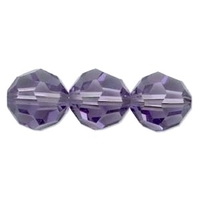 Swarovski Crystal Beads 6mm round (5000) tanzanite (blueish purple) transparent