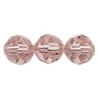 Swarovski Crystal Beads 6mm round (5000) vintage rose (pink) transparent