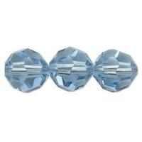 Image Swarovski Crystal Beads 8mm round (5000) aquamarine (aqua blue) transparent