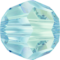 Swarovski Crystal Beads 8mm round (5000) crystal blue shade transparent with finish