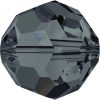 Image Swarovski Crystal Beads 8mm round (5000) graphite transparent