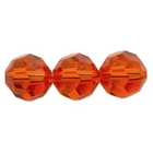 Swarovski Crystal Beads 8mm round (5000) hyacinth (orange) transparent