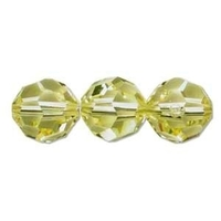 Swarovski Crystal Beads 8mm round (5000) jonquil (pale yellow) transparent