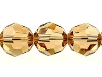 Swarovski Crystal Beads 8mm round (5000) light colorado topaz (light brown) transparent