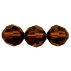 Image Swarovski Crystal Beads 8mm round (5000) mocca (reddish brown) transparent