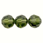 Swarovski Crystal Beads 8mm round (5000) olivine (olive green) transparent