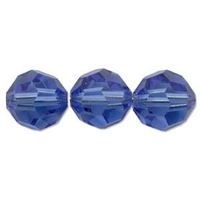 Swarovski Crystal Beads 8mm round (5000) sapphire (blue) transparent