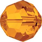 Swarovski Crystal Beads 8mm round (5000) tangerine (orange) transparent