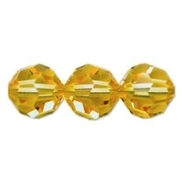 Swarovski Crystal Beads 8mm round (5000) light topaz (light gold) transparent