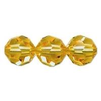 Image Swarovski Crystal Beads 8mm round (5000) light topaz (light gold) transparent